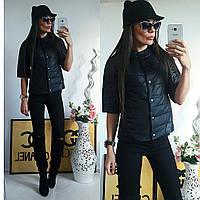 Куртка женская с рукавом 3/4, модель  202, черный 54