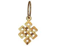 Интересная миниатюрная золотая подвеска 585* пробы без камней