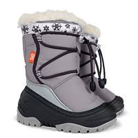 Теплые зимние ботинки для девочки с натуральным мехом