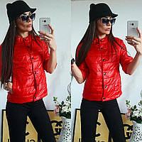 Куртка женская с рукавом 3/4, модель  202, красный