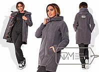 Женское пальто больших размеров п-202412