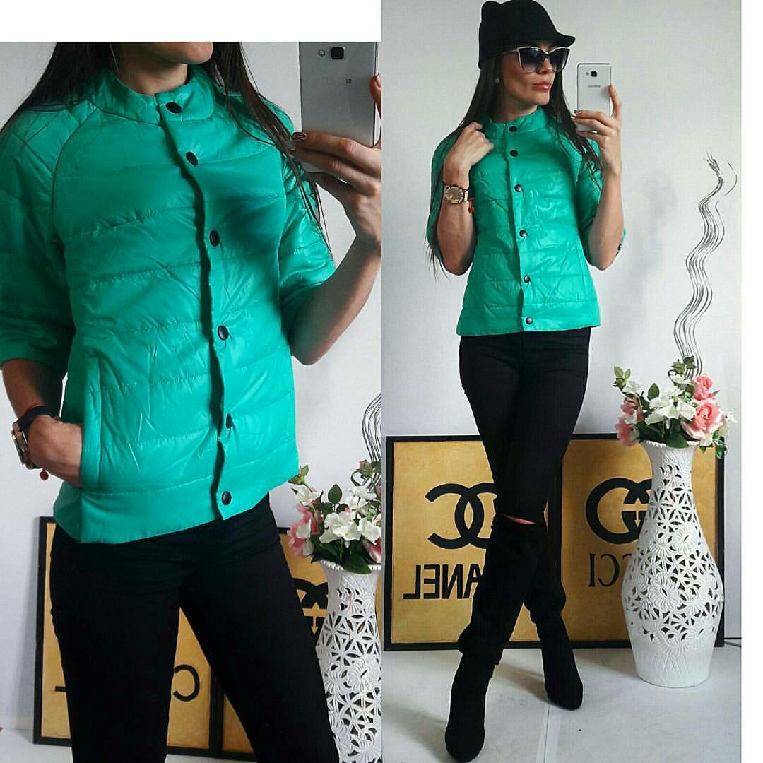 Куртка женская с рукавом 3/4, модель  203, мятный