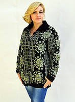 Вязаный зимний свитер