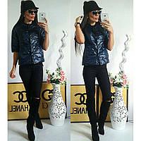 Куртка женская с рукавом 3/4, модель  202, синий 56