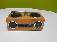 Радиоприемник бамбуковый (не требует батареек)