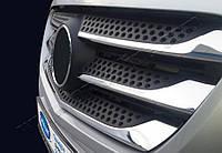 Накладки на решетку (5 шт, нерж) - Mercedes Vito W447 (2014+)