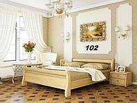 Кровать Диана двуспальная Бук Щит 102 (Эстелла-ТМ)