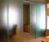 Раздвижная дверь из стекла