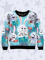 Тёплый детский свитшот Снежок с ярким мультяшным принтом для девочек и мальчиков.