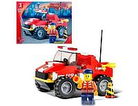 """Конструктор SLUBAN """" Маленький спасательный грузовик - Пожарные спасатели"""" 118 деталей арт. M38-B0217"""