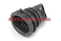 """Патрубок воздушного фильтра на скутер   Honda DIO AF34/35   """"KOMATСU""""   (черный)"""