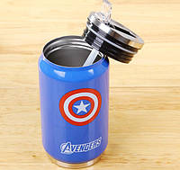 Термокружка Капитан Америка / Мстители 350 мл, фото 1
