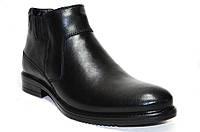 Зимние мужские классические ботинки из натуральной кожи.