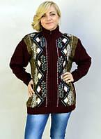 Батальный свитер модного фасона