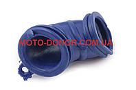 """Патрубок воздушного фильтра на скутер   Yamaha JOG   """"KOMATCU""""   (синий)"""