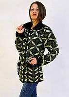 Батальный свитер с отложным воротником