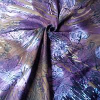Шерстяной платок Конфети сиреневый цветы