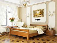 Кровать Диана двуспальная Бук Щит 105 (Эстелла-ТМ)