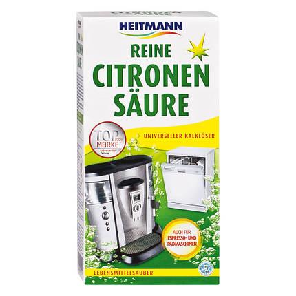 Очиститель от накипи для посудомоечных, стиральных, кофе-машин на основе лимонной кислоты Heitmann 375г, фото 2