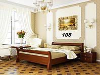 Кровать Диана двуспальная Бук Щит 108 (Эстелла-ТМ)