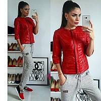 Куртка женская, модель 201, красный