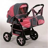 Детская коляска-трансформер VERDI TRAFIC, красно-серая
