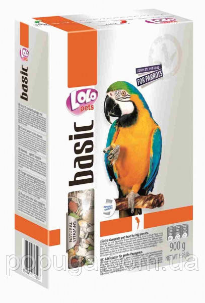 LoLo Pets  Полнорационный корм для крупных попугаев 0.9кг.