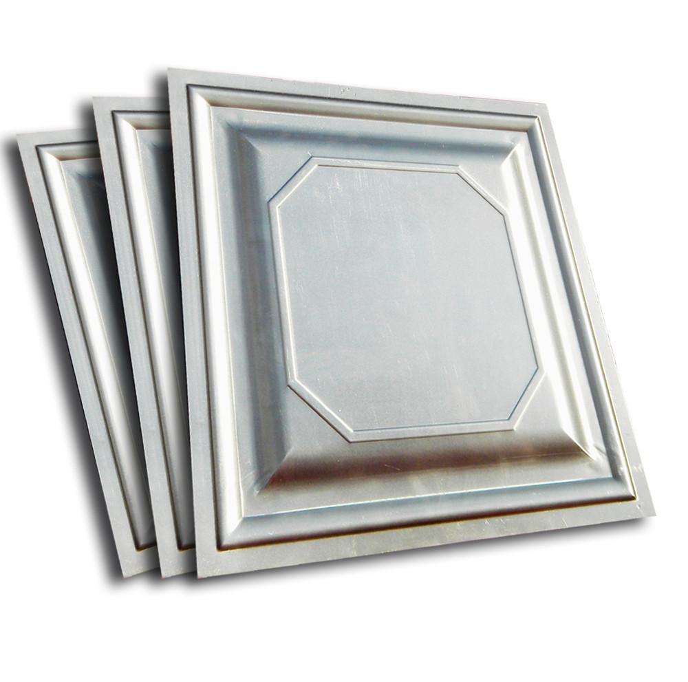 Филенка металлическая штампованная для ворот, шоколадка 500Х500мм. Классика