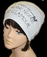 Шапка женская  колпак  модная Девушка в   Платье размеры 56-59  белая