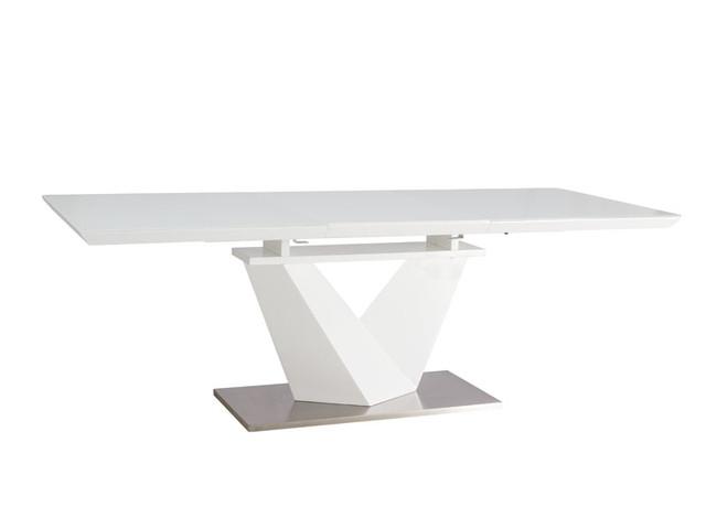 Стол 220см столешница стекло ножки белый лак ремонт столешницы из искусственного камня цена