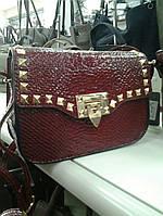 Стильный женский клатч красного цвета 2113