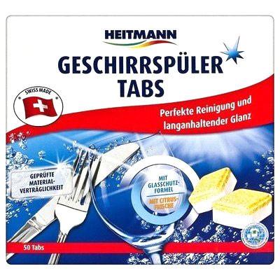 Таблетки для посудомоечных машин лимонная свежесть Heitmann 50шт