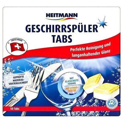 Таблетки для посудомоечных машин лимонная свежесть Heitmann 50шт, фото 2