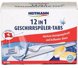 Таблетки  для посудомоечных машин 12 функций в 1 Heitmann 20шт, фото 2