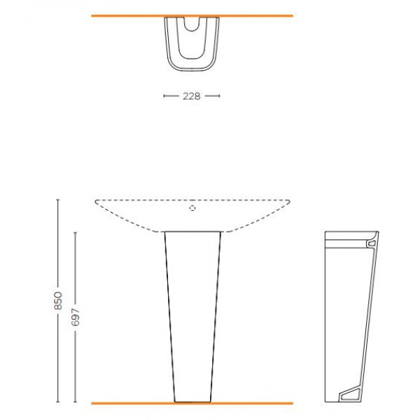 Пьедестал для раковины Forsan Ceramics Club SCLB.S19.F01