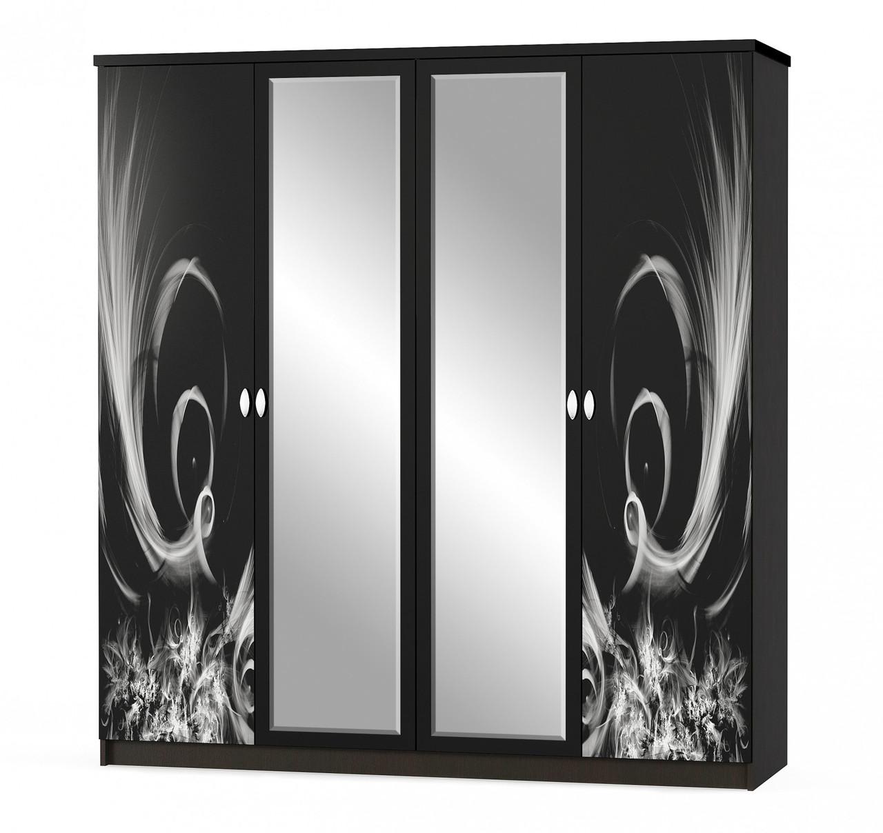 Шкаф 4Д Ева венге Мебель-сервис