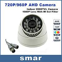 AHD 1MP Камера видеокамера видеонаблюдения купольная