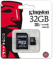 Карта памяти microSDHC (UHS-1) Kingston 32Gb class 10 R45MB/s (adapter SD)