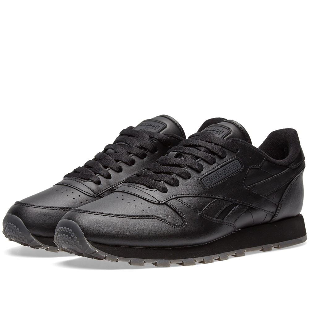Оригинальные кроссовки Reebok Classic Leather Solids Black - Sport-Sneakers  - Оригинальные кроссовки - Sneakerhead 9df18265281fa