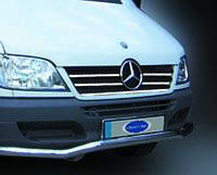 Накладки на кант решетки радиатора (2002-2006, 5 частей, нерж) - Mercedes Sprinter (1995-2006)
