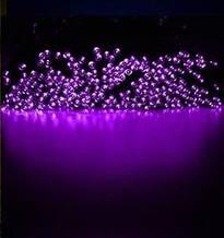 Світлодіодна гірлянда на сонячній батареї 100 LED фіолетовий 12м