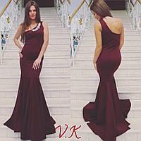 Женское элегантное платье с пол с украшением (4 цвета)