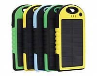 Power Bank 10000 mAh с солнечной батареей (противоударный/водонепроницаемый)