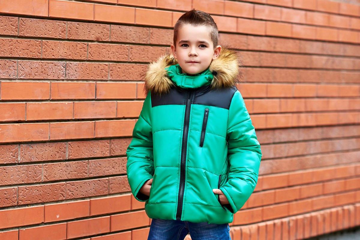 Стильная курточка для мальчика зимняя с капюшоном