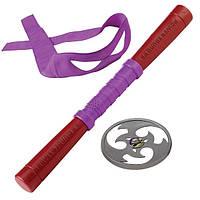 Набор игрушечного звукового оружия сер. Черепашки-ниндзя Донателло шест бо, сюрикен, бандана TMNT (92102)