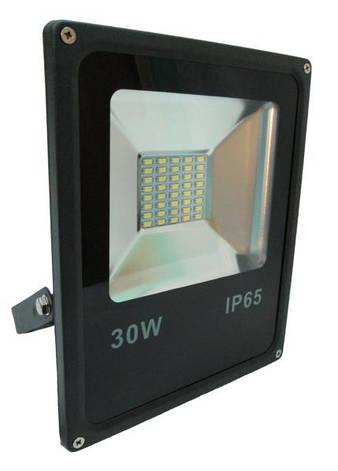 Прожектор LED Alfa SMD 30W 4200К чорний, фото 2