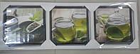 "Картина-триптих ""Зеленый чай"""