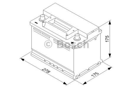 "Аккумулятор BOSCH S3 Silver 70Ah , EN640 , правый ""+"" , ( Bosch 0 092 S30 070 ) 278*175*175 (Д*Ш*В)"