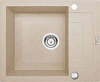 Мойка гранитная 5949 глубина 19 см Deante серии Rapido песочный гранит прямоугольная артикул ZQК 711A