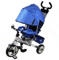 Детский трехколесный велосипед M 0448-6 Profi Trike (серо-синий) (5363-6)
